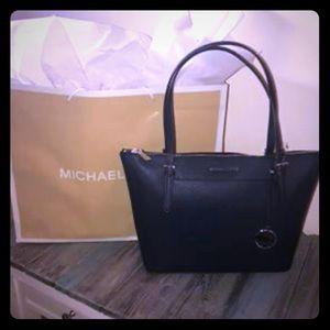 Michael Kors Ciara Navy Large Leather Tote